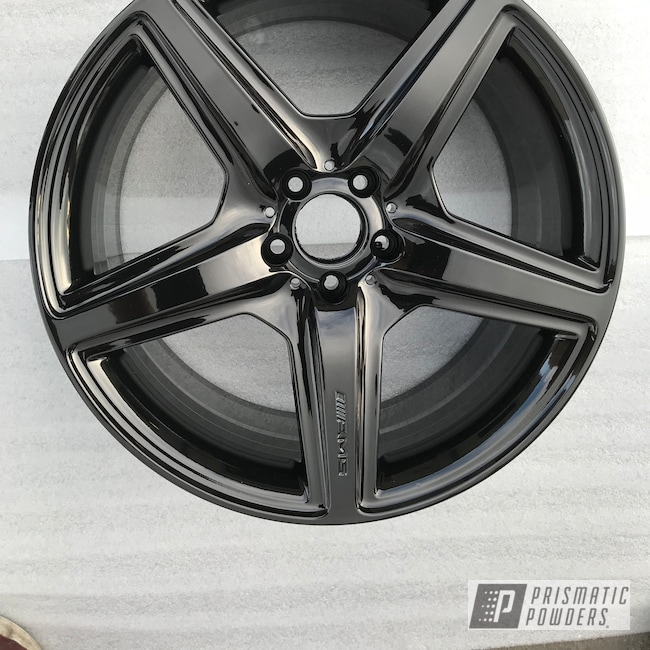 Powder Coating: Wheels,Automotive,Ink Black PSS-0106,AMG,AMG Wheels