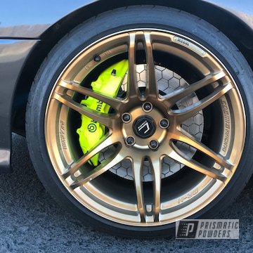 Powder Coated Neon Yellow Custom Brembo Brake Caliper