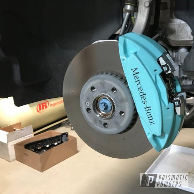 Powder Coated Light Green Mercedes Brake Caliper