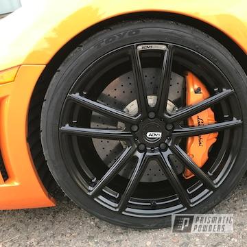 Powder Coated Black Lamborghini Rims