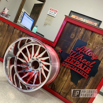 Powder Coated Red Toc Trucking Rims