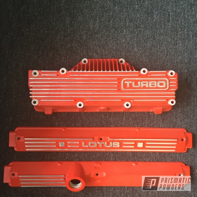 Powder Coated Orange Engine Covers
