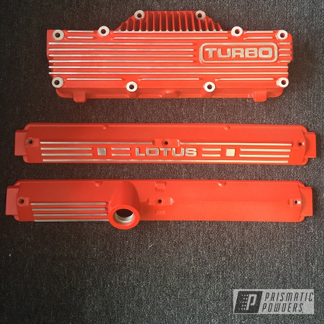 Powder Coating: Automotive,Engine Parts,Stark Orange Texture PTB-8141