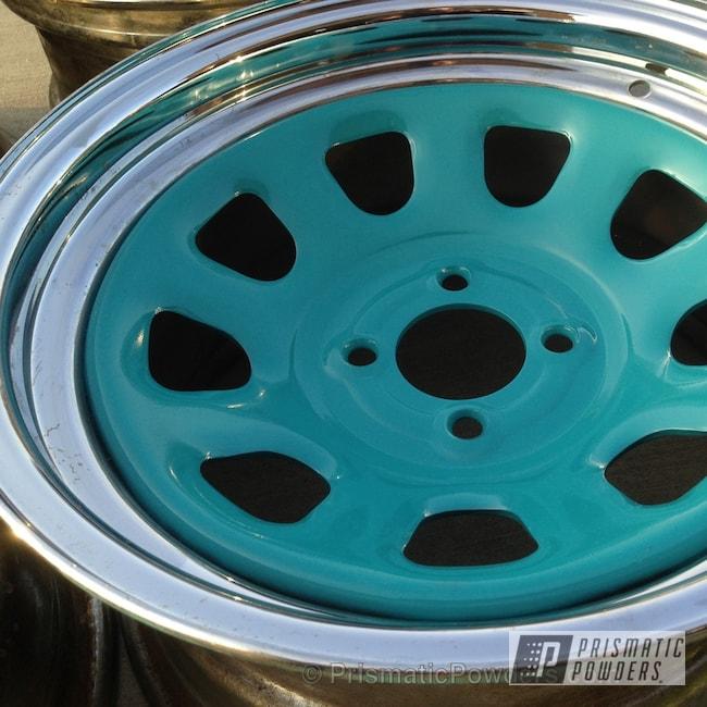 Powder Coating: Wheels,Custom,teal,powder coating,powder coated,Prismatic Powders,Indian Turquoise PSS-2791,Acura Diamond Racing Wheels