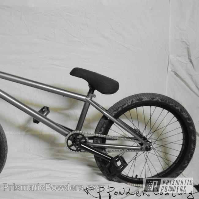 Powder Coating: Custom,Black Chrome II PPB-4623,Bicycles,SUPER CHROME USS-4482,Bike Frame,BMX Bike,chrome,powder coating,powder coated,Prismatic Powders,grey