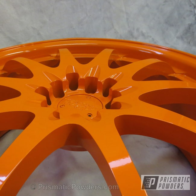 Powder Coating: Wheels,Custom,RAL 2009 RAL-2009,Wrx rims,powder coating,powder coated,Prismatic Powders,Orange