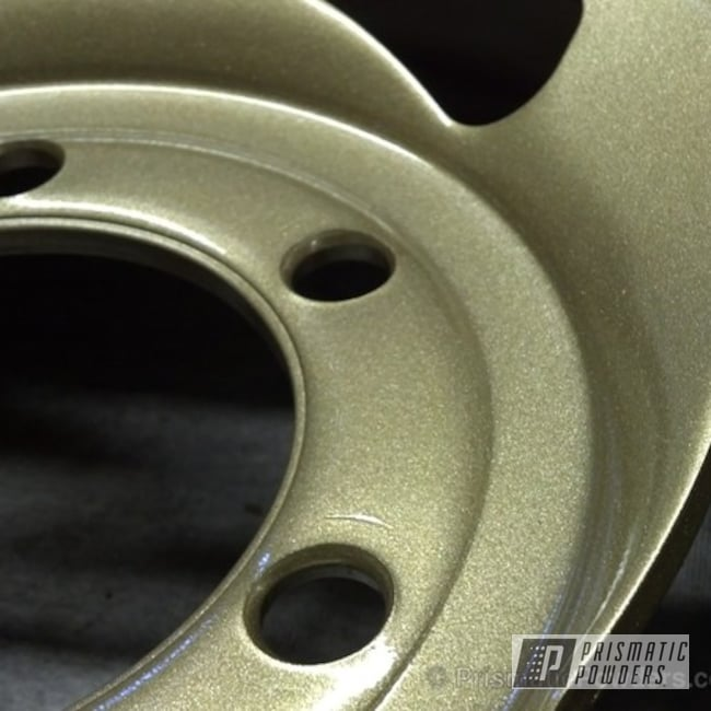 Powder Coating: Wheels,Clear Vision PPS-2974,Sleet Gold PMB-4674