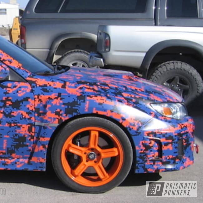 Powder Coating: Wheels,Automotive,Bright Orange PSS-0879,Subaru Orange Wheels