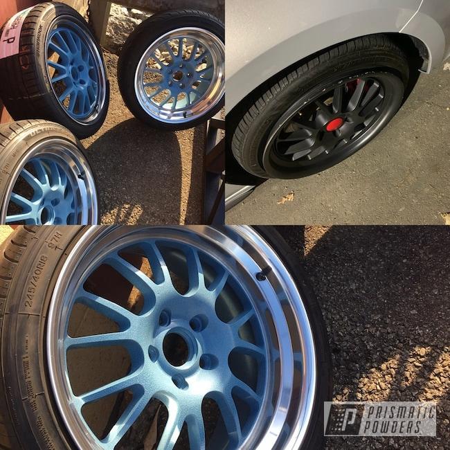 Powder Coated Blue 18 Inch Audi Wheels