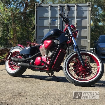 Powder Coated Cherry Red Complete Motorcycle