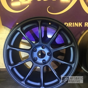 Powder Coated Blue Set Of Rays 18 Inch Wheels