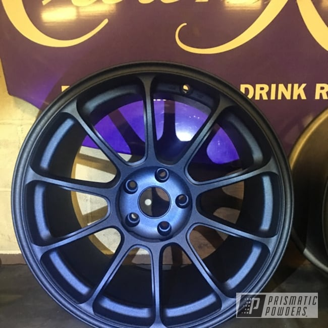 "Powder Coating: Wheels,Automotive,18"",RAYS Wheels,18"" Wheels,Rays,Midnight Blue Cast PCB-1110"