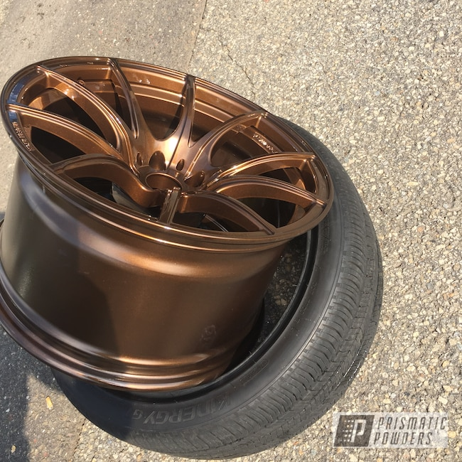 "Powder Coating: Wheels,19"" Wheels,19"",Automotive,Clear Vision PPS-2974,Super Rootbeer PMB-6335"