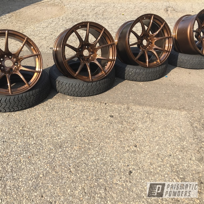 """Powder Coating: Wheels,19"""" Wheels,19"""",Automotive,Clear Vision PPS-2974,Super Rootbeer PMB-6335"""