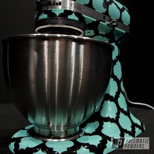 Powder Coating: Clear Vision PPS-2974,Sea Foam Pearl PMB-6797,Teal Cuisinart Mixer,Miscellaneous