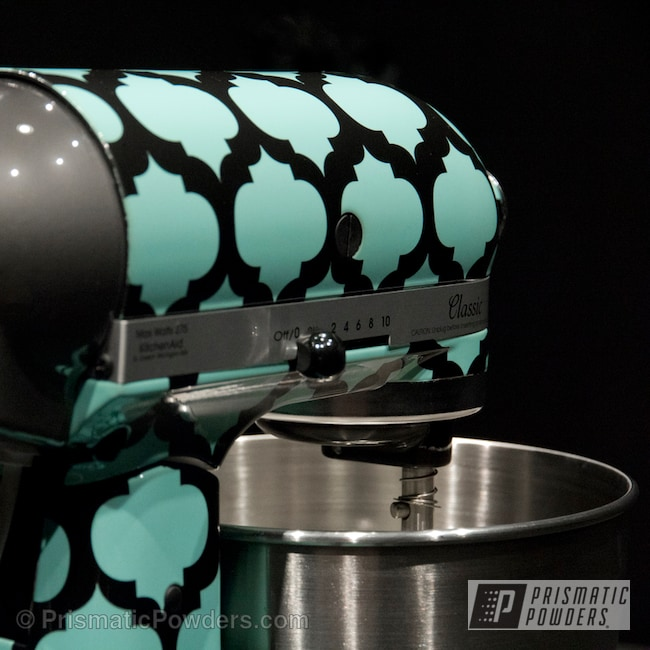 Powder Coating: Clear Vision PPS-2974,Sea Foam Pearl PMB-6797,Teal Cuisinart Mixer,Miscellaneous