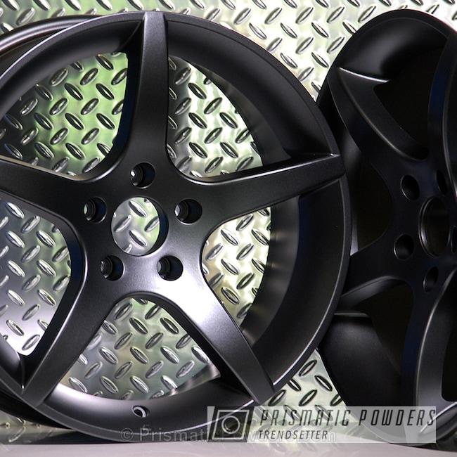 Powder Coating: Single Powder Application,Wheels,Custom,Automotive,STERLING BLACK UMB-1204,BMW Wheels,Solid Tone