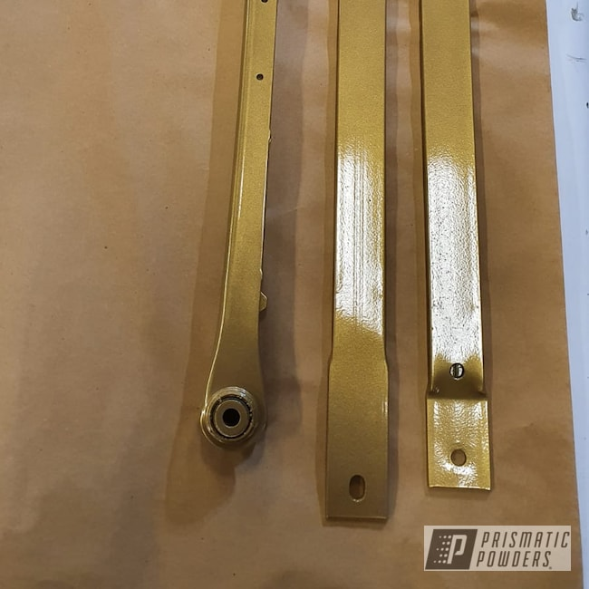 Powder Coating: Goldtastic PMB-6625,Automotive,Chassis Parts,Clear Vision PPS-2974