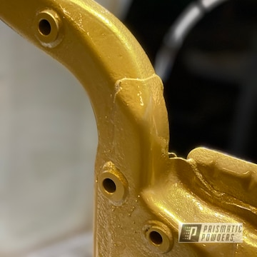 Powder Coated Gold Automotive Chassis Parts
