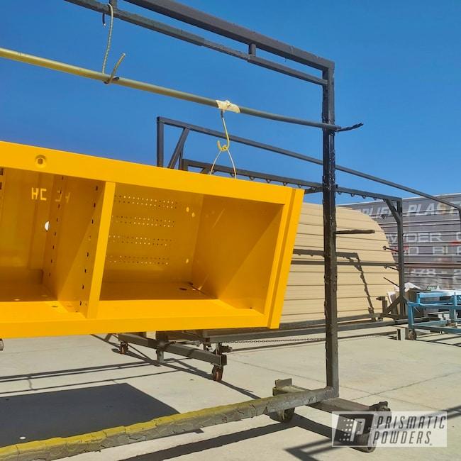 Powder Coating: Caterpillar Yellow II PSS-2550,Caterpillar Yellow,tool box,Applied Plastic Coatings
