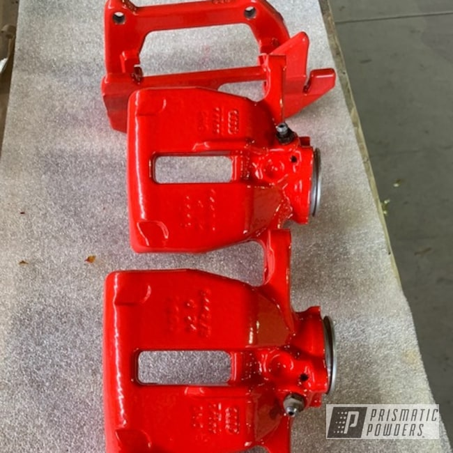 Powder Coating: Automotive,Flame Red PSS-5082,Bright Red,Flame Red,Brake Calipers