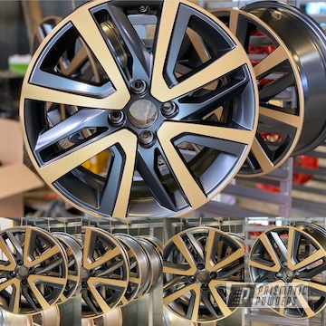 Powder Coated 16 Inch Aluminum Wheels In Umb-6578 And Hmb-4137