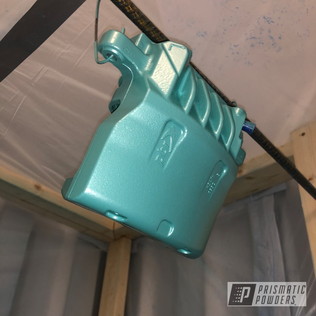 Powder Coating: Automotive,Calipers,Holden,Green,Caliper,Caribbean Mist PMB-6805,Pontiac,Chevrolet,Brake Calipers,Teal,GM,Chevy,G8 GT,Brake Caliper,G8
