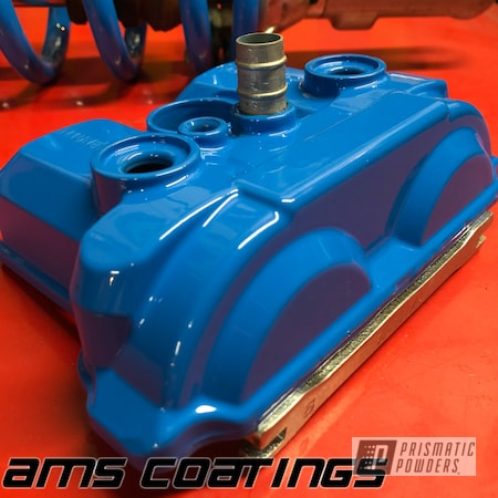 Powder Coating: Automotive,Coil Spring,shock,Playboy Blue PSS-1715,Motorcycles,Valve Cover,Dirt Bike