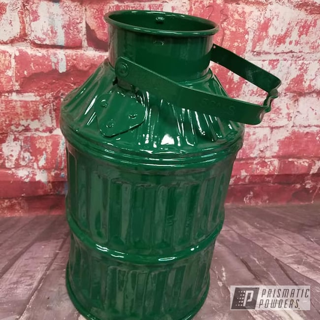 Powder Coating: Vintage Oil Can,RAL 6005 Moss Green,Vintage,Oil Can,Miscellaneous