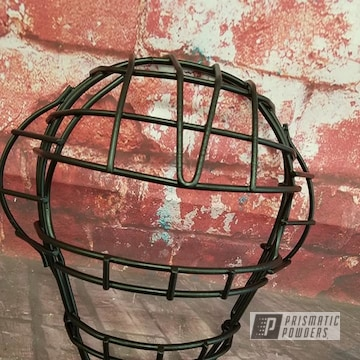 Powder Coated Refinished Umpire Mask In Uss-1522