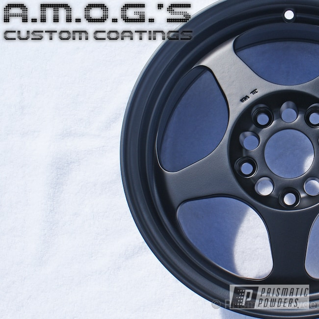 Powder Coating: Wheels,Custom,Black,Flatter Black ESS-4441,powder coating,powder coated,Prismatic Powders