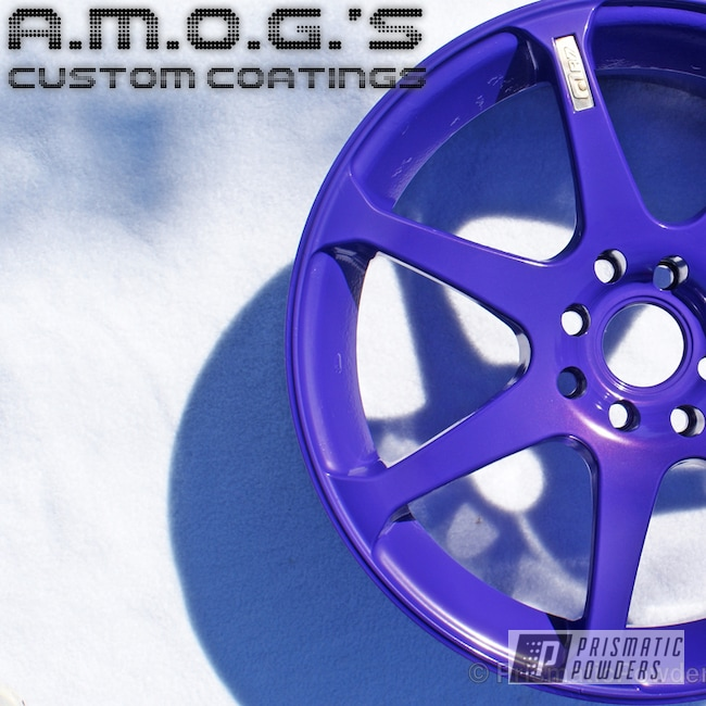 Powder Coating: Wheels,Custom,powder coating,powder coated,Prismatic Powders,Purple wheels,Crimson Purple PMB-2054