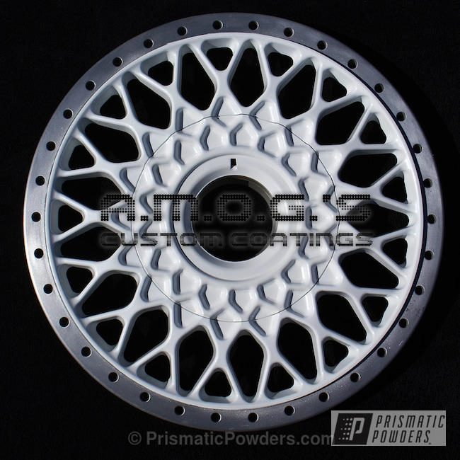 Powder Coating: Wheels,Custom,White,powder coating,powder coated,Prismatic Powders,Pearlized White II PMB-4244