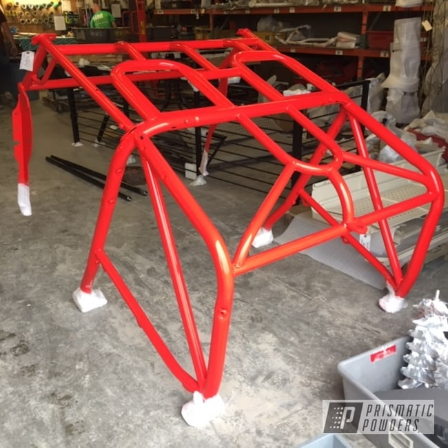 Powder Coating: Custom,RAL 3020 Traffic Red,Automotive,Roll Cage,Jeep