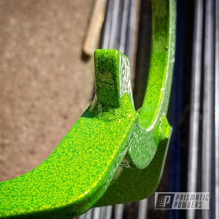 Powder Coating: Vibrant Silver Vein PVB-5825,Welding Project,Shocker Yellow PPS-4765,Miscellaneous