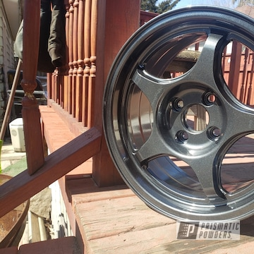 Powder Coated Grey 15 Inch Honda Wheels