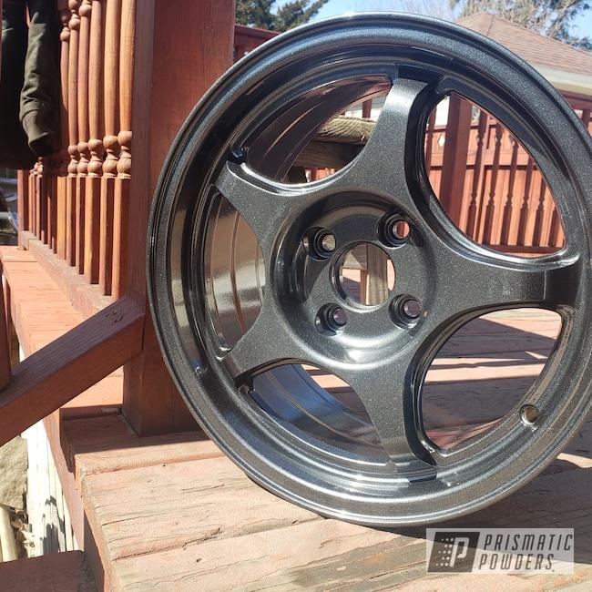 "Powder Coating: Wheels,Automotive,Honda,15"" Wheel,Cadillac Grey PMB-6377"