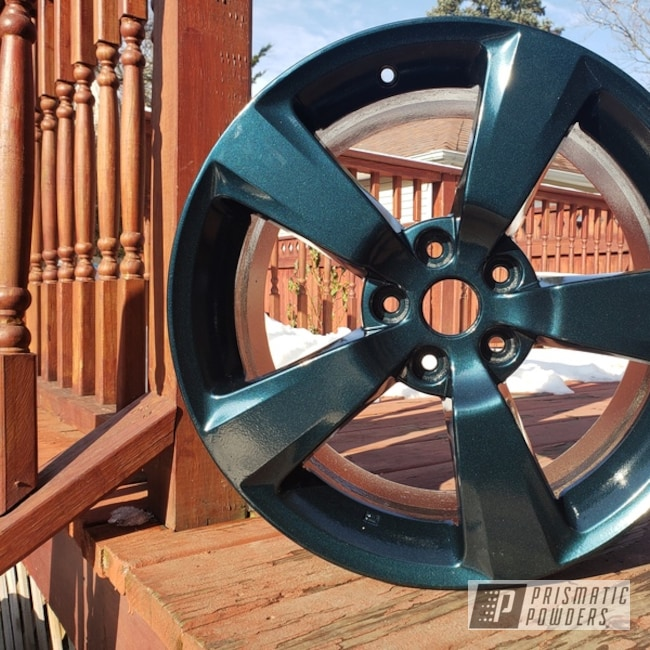 "Powder Coating: Subaru WRX,Automotive,STI,Subaru,Indigo Teal PMB-1602,18"" Aluminum Wheels"