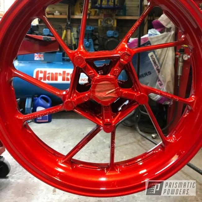 "Powder Coating: Automotive,Clear Vision PPS-2974,Yamaha,17s,17"" Wheels,Illusion Red PMS-4515,Motorcycles,Yamaha XSR900"