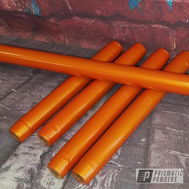 Powder Coating: Automotive,Clear Vision PPS-2974,Two Stage Application,Auto,Illusion Orange,Illusion Orange PMS-4620,Automotive Parts,Suspension