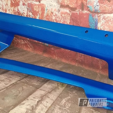Powder Coated Light Blue Auto Parts