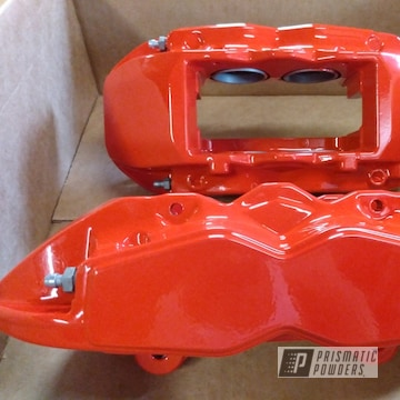 Powder Coated Red Refinished Brake Calipers