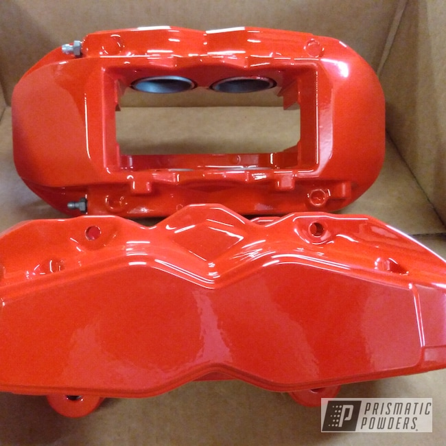 Powder Coating: Racer Red PSS-5649,Automotive,Brake Calipers