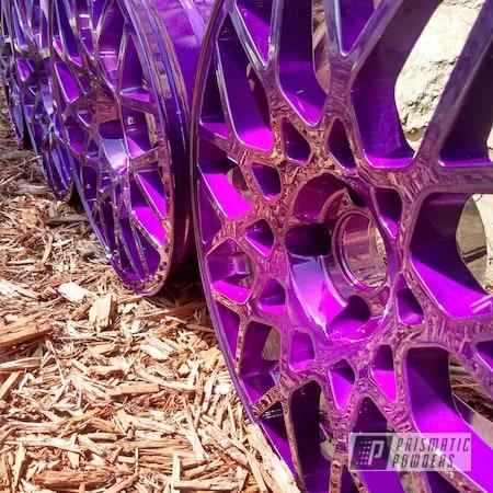 "Powder Coating: Illusion Purple PSB-4629,Wheels,Automotive,Clear Vision PPS-2974,18"",18"" Aluminum Wheels"
