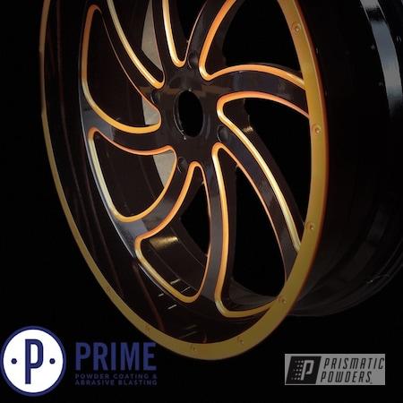 "Powder Coating: Wheels,Automotive,Clear Vision PPS-2974,MSA,22"" Wheels,22"",M36 Switches,Illusion Orange PMS-4620"