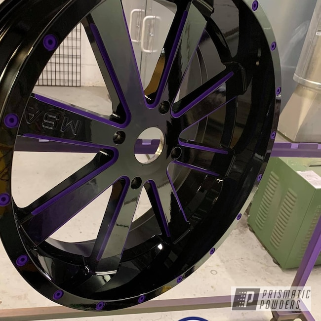 "Powder Coating: Illusion Purple PSB-4629,Automotive,Clear Vision PPS-2974,MSA,M35 Bandit,Two Tone Wheels,20"",20"" Wheel"