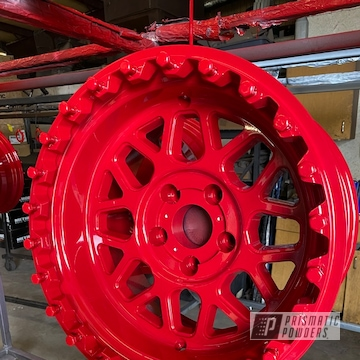 Powder Coated Red Alloy Rim