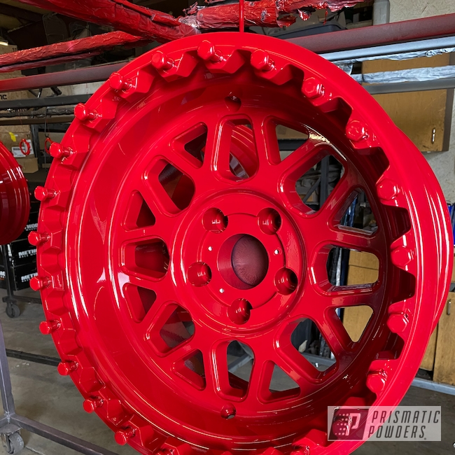 Powder Coating: Passion Red PSS-4783,Wheels,Automotive,Alloy Wheels