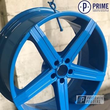 Powder Coated Blue Rim