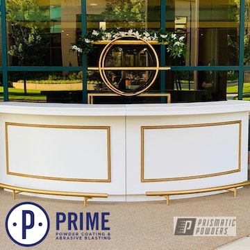 Powder Coated Gold Furniture Accents